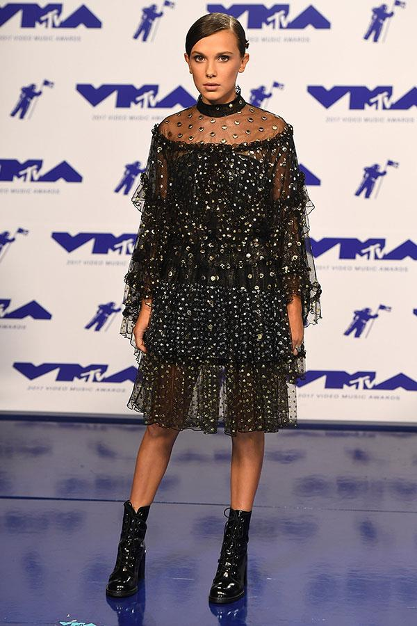 Wearing Rodarte at the MTV VMAs, 27 August 2017.