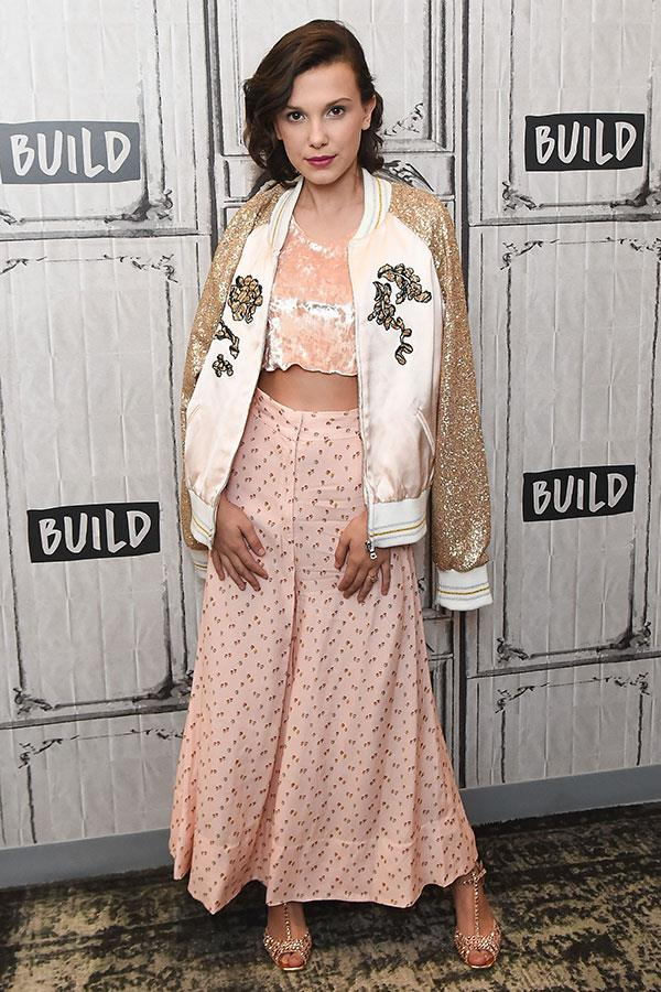 Wearing Rodarte at Build Series on 31 October 2017.