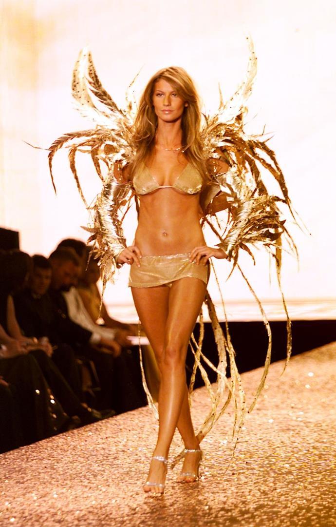 **Gisele Bündchen, 2000** <br><br> She is like the most fantastic golden phoenix.