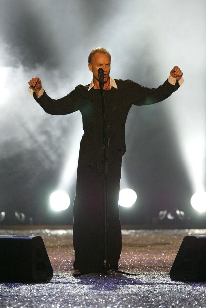 **Sting, 2003** <br><br> Moves like Jagger.