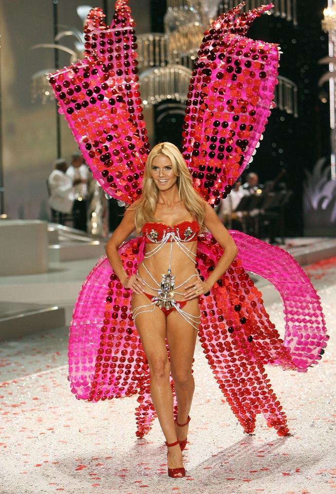 **Heidi Klum, 2008** <br><br> Heidi, literally dressed like God's gift to Earth.