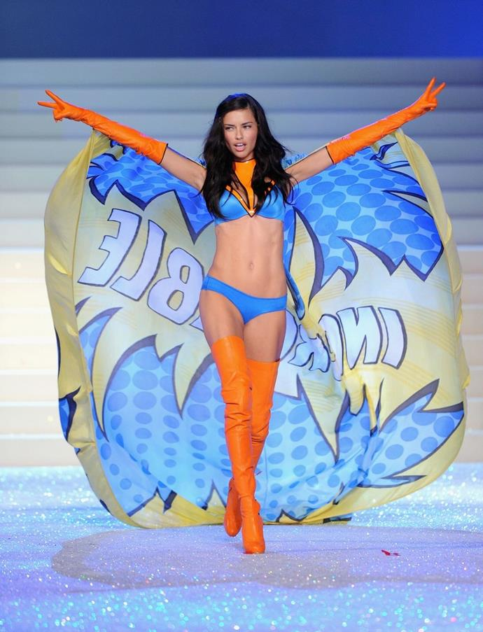 **Adriana Lima, 2011** <br><br> Remember Adriana Lima's superhero moment? *Incredible.*