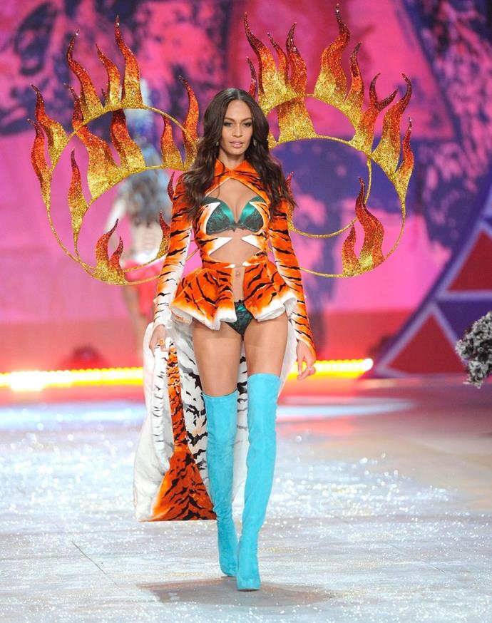 **Joan Smalls, 2012** <br><br> Got to love a circus theme, right?