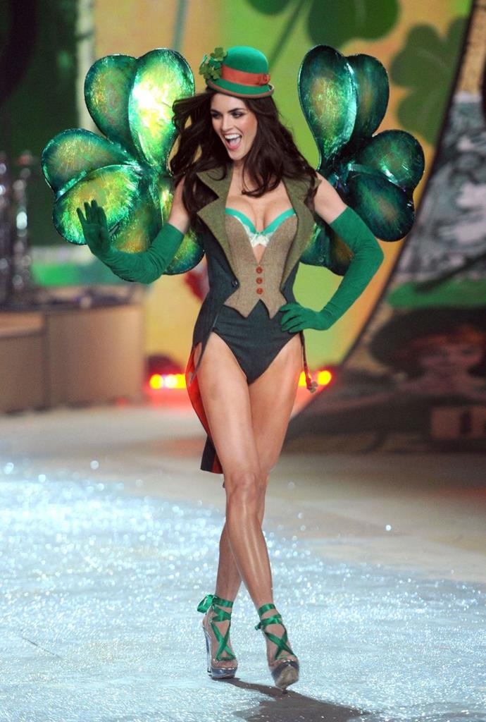 **Hilary Rhoda, 2012** <br><br> Sexy leprechauns, much like four-leaf clovers, are incredibly rare.