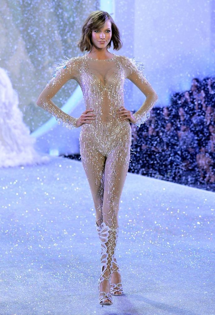 **Karlie Kloss, 2013** <br><br> Human icicle!