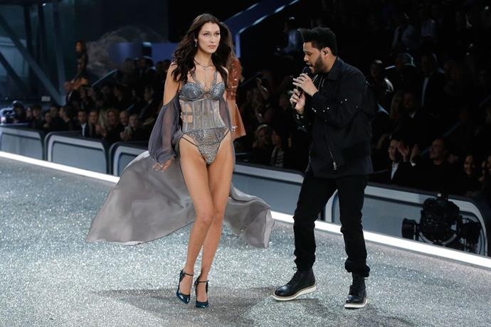 **Bella Hadid and the Weeknd, 2016** <br><br> Don't you hate when you run into your ex on the runway?