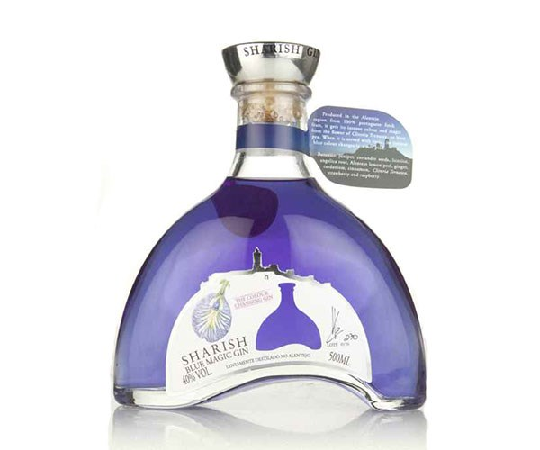 "Sharish Blue Magic Gin, $53.31 at [Master of Malt](https://www.masterofmalt.com/gin/sharish-gin/sharish-blue-magic-gin/|target=""_blank""