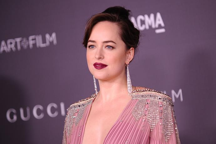 """**Dakota Johnson: *Fifty Shades*** <br><br> [Gucci muse](https://www.elle.com.au/fashion/dakota-johnson-gucci-love-affair-10692 target=""""_blank"""") **Dakota Johnson** has not-so-directly shaded her world-famous *Fifty Shades* films ever since they were first released.  <br><br> While continually admitting that her family isn't allowed to see the films, she said on [*Ellen*](https://www.youtube.com/watch?v=zHqGiZQTxfw target=""""_blank"""" rel=""""nofollow"""") that the franchise has basically ruined her love life—in her words, """"I guess [guys] either love me or they're running for the hills. I guess they're running for the hills."""" <br><br> She also expressed her hatred for filming the (numerous) sex scenes in an interview with [*Interview Magazine*](https://www.interviewmagazine.com/film/dakota-johnson-1 target=""""_blank""""), calling them """"pretty tedious"""". Ah, well—at least she can be thankful they didn't split the final film into two parts."""