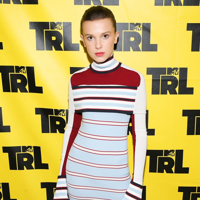 "**Millie Bobby Brown** <br><br> Shortly after making her modelling debut for [Calvin Klein](https://www.elle.com.au/fashion/millie-bobby-brown-calvin-klein-campaign-2810|target=""_blank"") earlier this year, the teen [style icon](https://www.elle.com.au/fashion/millie-bobby-brown-best-style-moments-14902
