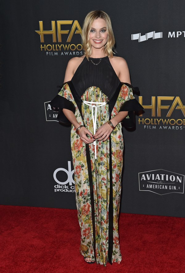 Wearing Louis Vuitton at the 2017 Hollywood Film Awards on 5 November, 2017
