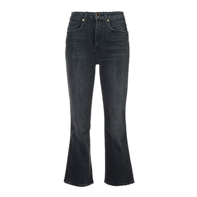 "Jeans by Khaite, $617 at [Farfetch](https://www.farfetch.com/au/shopping/women/khaite-cropped-flared-jeans-item-12190479.aspx?storeid=9902&from=listing&tglmdl=1|target=""_blank""