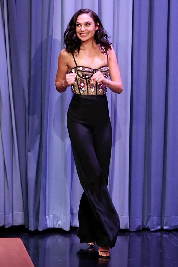 Wearing Cushnie et Ochs at *The Tonight Show Starring Jimmy Fallon* on 5 October, 2017