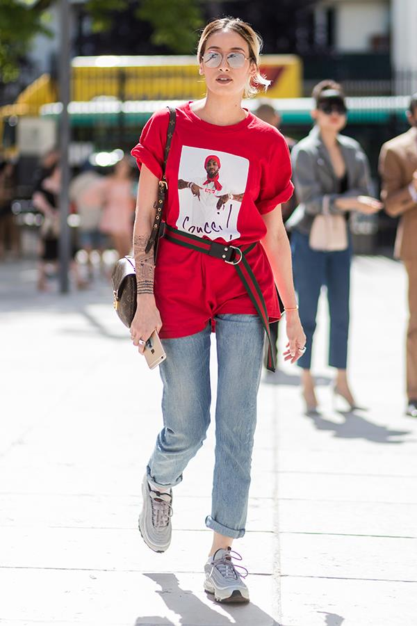 **3. To Elevate A Slouchy Jumper Or Tee**