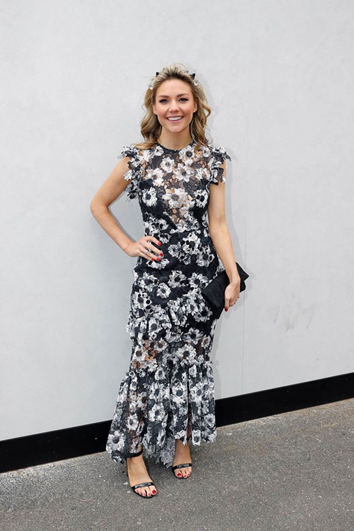 Sam Frost on AAMI Victoria Derby Day at Flemington Racecourse.