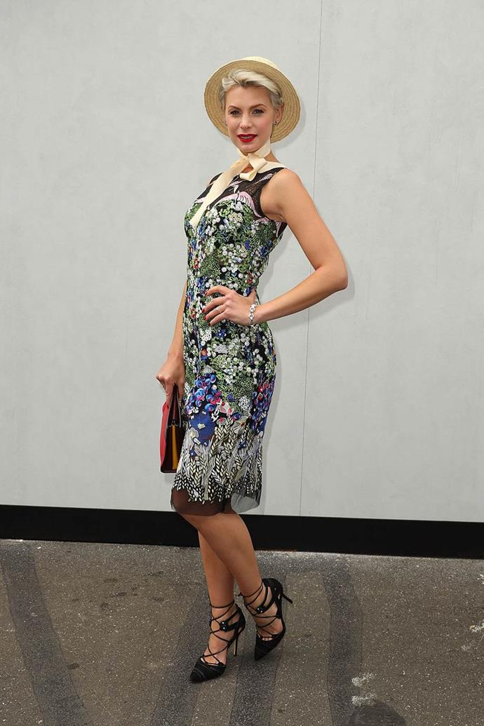 Kate Peck at Emirates Melbourne Cup Day.