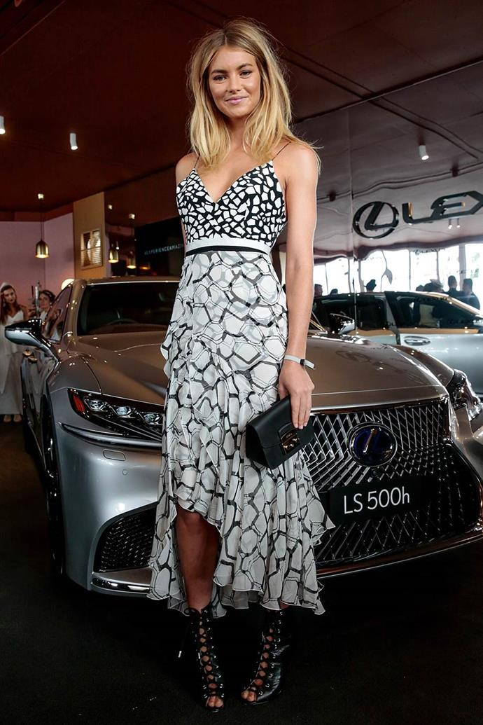 Elyse Taylor at Emirates Melbourne Cup Day.