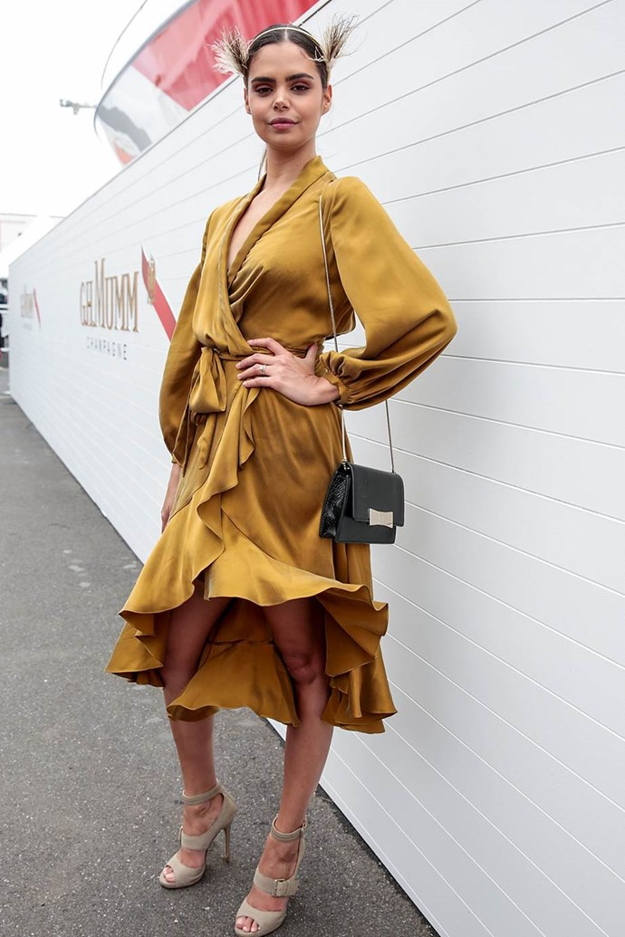 Sam Harris in Zimmermann at Emirates Melbourne Cup Day.