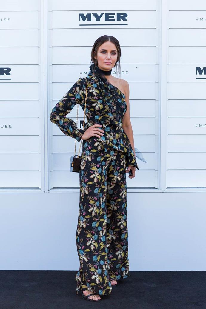 Jodi Anasta in Nicholas the Label at Kennedy Oaks Day.