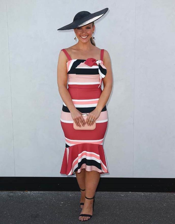 Edwina Bartholomew poses on Emirates Stakes Day.