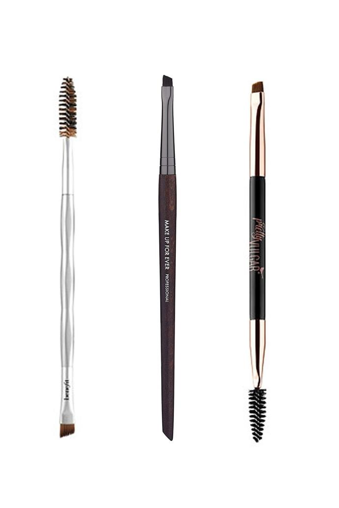 "**For Structured Brows** This type of brow has a clear shape and form like the famous brows of Kendall Jenner and Zendaya, It's all about precision. ""For this I would use a smaller, narrower, and stiffer brush so that I can create more of a defined edge,"" says Stiles. Stiles also notes that this is ""the most commonly available brow brush size/shape."""