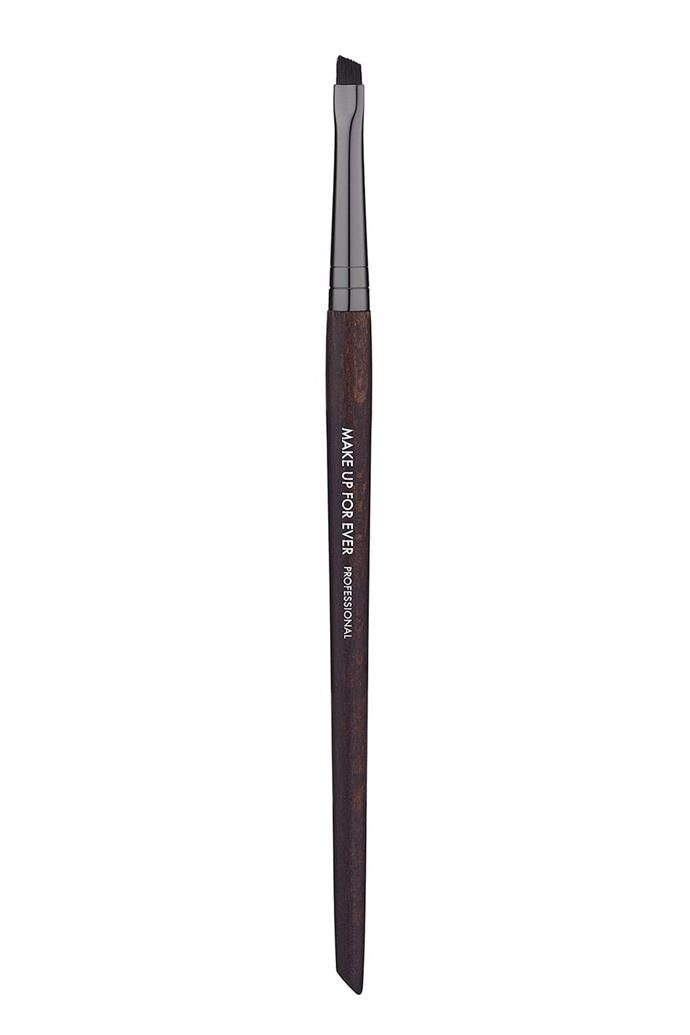 "*Make Up Forever 270 Angled Eyebrow Brush,* *$28, [Makeup Forever](https://www.makeupforever.com/us/en-us/make-up/brushes/eye-brush/angled-eyebrow-brush-270|target=""_blank""