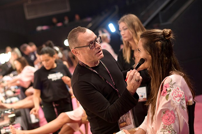 Backstage at the 2017 Victoria's Secret Fashion Show.