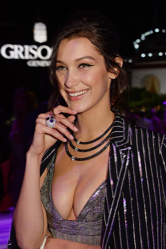 Bella smiling at the de Grisogono party during the 69th Cannes Film Festival in May 2016.
