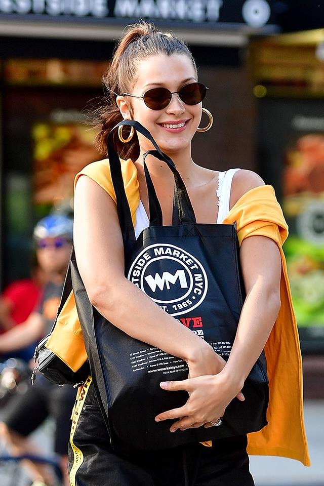 Bella smiling in NYC in August 2017.