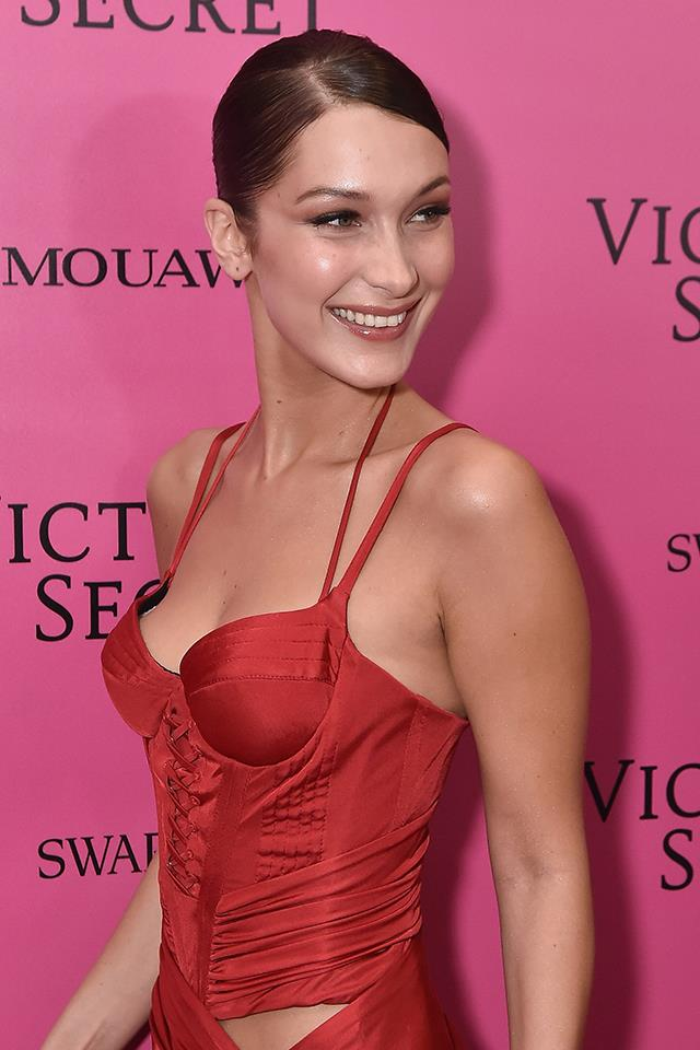 Bella smiling at the 2017 Victoria's Secret Fashion Show after-party.