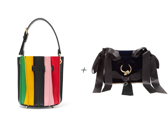 "Bucket bag, $2,237, [Sara Battaglia at net-a-porter.com](https://www.net-a-porter.com/au/en/product/919746/sara_battaglia/plisse-mini-leather-bucket-bag|target=""_blank""