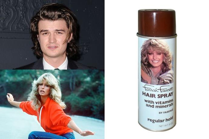 "**Steve Harrington's ​Farrah Fawcett Hair Spray** <br><br> Um, who wouldn't want **Steve Harrington**'s (Joe Keery) luscious '80s locks? When he told Dustin to use exactly four puffs of Farrah Fawcett spray on damp—not wet—hair, I pulled up eBay to find the magic product. It's real, btw. It will probably run you around $550, but there are stranger things to spend your money on. ―*Emily Tannenbaum, Social Media Editor* <br><br> *Farrah Fawcett Faberge Hairspray ,$525, [ebay.com](https://www.ebay.com/itm/Farrah-Fawcett-Faberge-Hair-Spray-Stranger-Things-Full-Can-Vintage/152774944095?hash=item239218a55f:g:U5YAAOSwCtJZ~kG1&afsrc=1&rmvSB=true|target=""_blank""