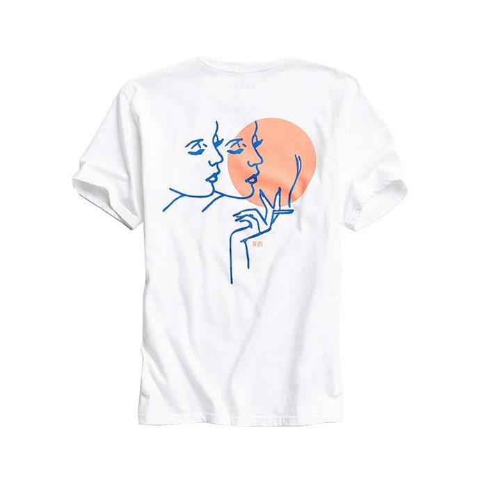 "*Gemini* <br><br>T-Shirt, $44, [Never Made at urbanoutfitters.com](https://www.urbanoutfitters.com/shop/nevermade-gemini-tee?category=SHOPBYBRAND&color=010|target=""_blank""