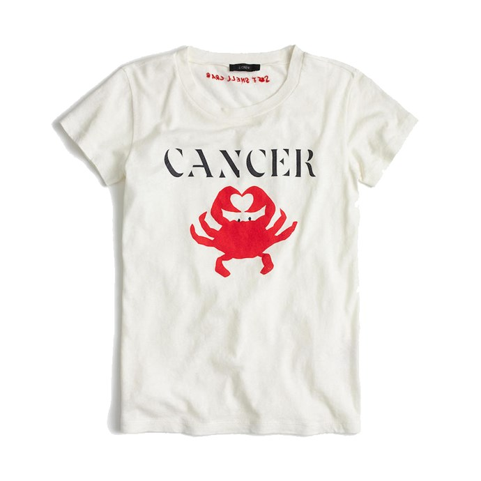 "*Cancer* <br><br>T-Shirt, $29, [J.Crew](https://www.jcrew.com/au/p/womens_feature/horoscopetees/horoscope-tshirt-in-cancer/G9239|target=""_blank""