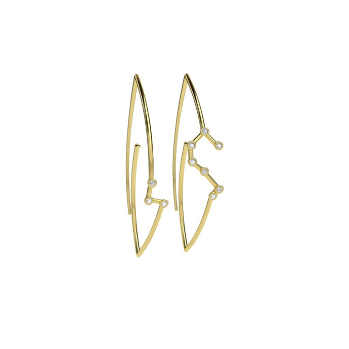 "*Leo* <br><br>Earrings, $3,171, [Jessie V E](https://jessieve.com/collections/constellations/products/leo-constellation-earrings?variant=49049035140|target=""_blank""