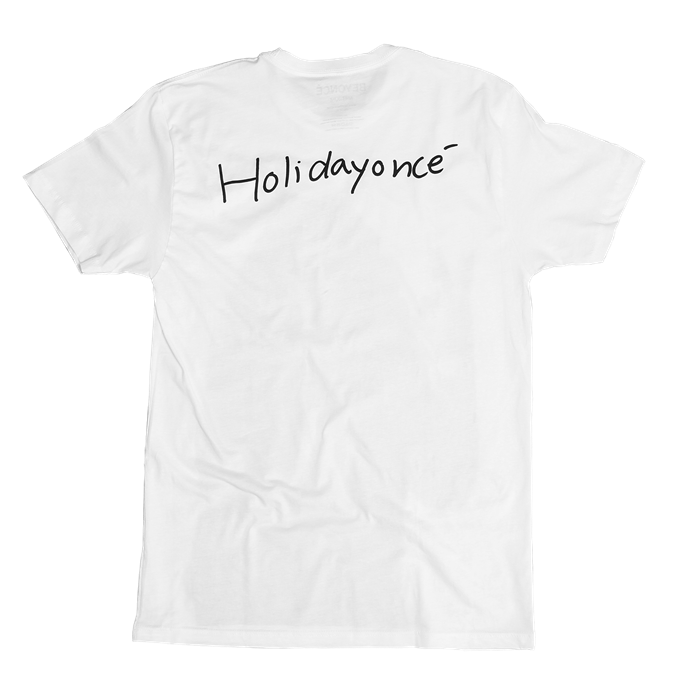 "'Holidayoncé' Tee, $53 (approx.) at [Beyonce.com](https://shop.beyonce.com/products/62182-holidayonce-white-t-shirt|target=""_blank""