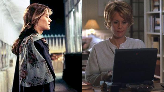 ***Meg Ryan***<br> **Notable works:** *Sleepless in Seattle; You've Got Mail; French Kiss; City of Angels*.<br> **Her signature:** The all-American sweetheart who could be both brash and charming.