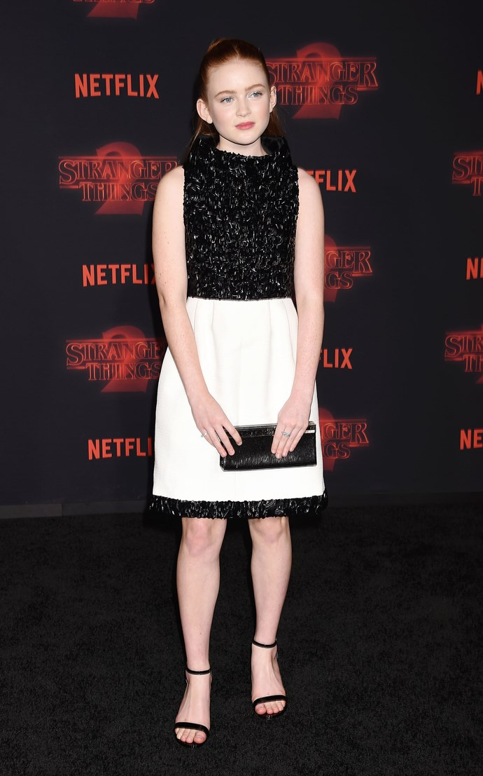 At the ***Stranger Things 2*** premiere on October 26 in Los Angeles.  <br><br> *Image: Getty*