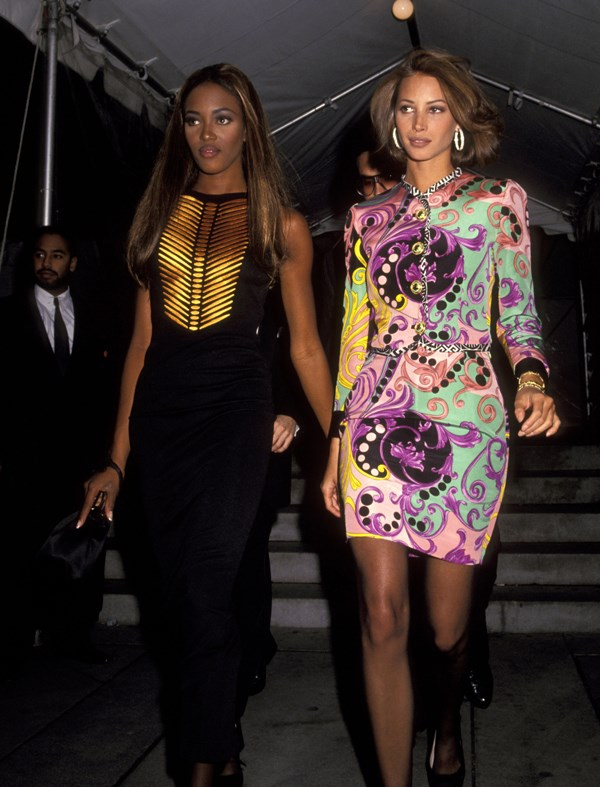 Naomi Campbell and Christy Turlington, 1991