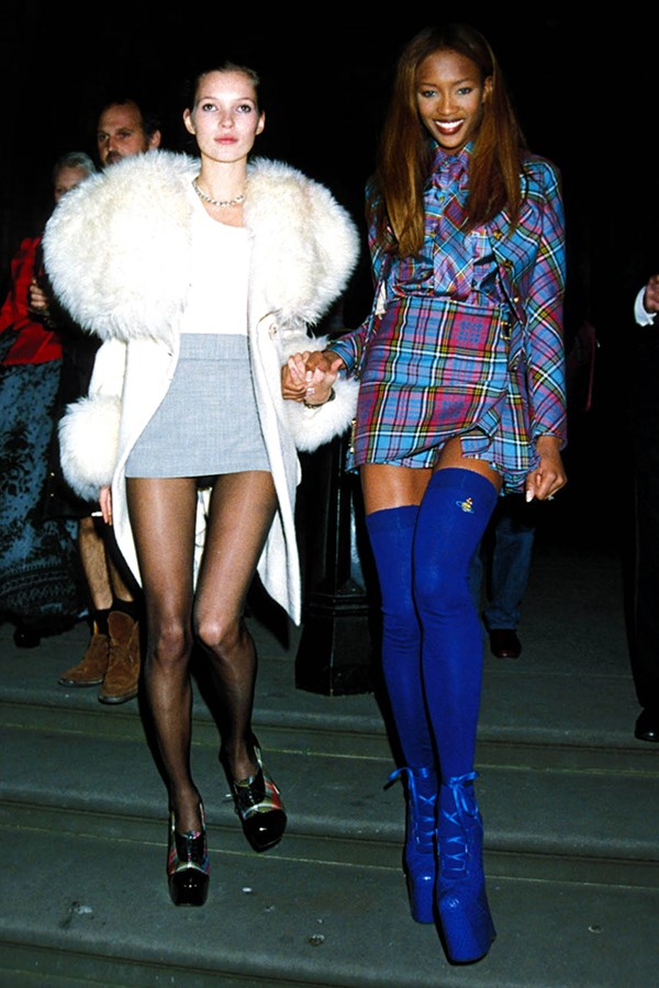 Kate Moss and Naomi Campbell, 1991