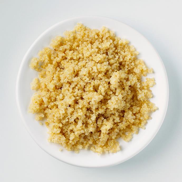 **Quinoa**    *Contains 4g of protein per half a cup.*