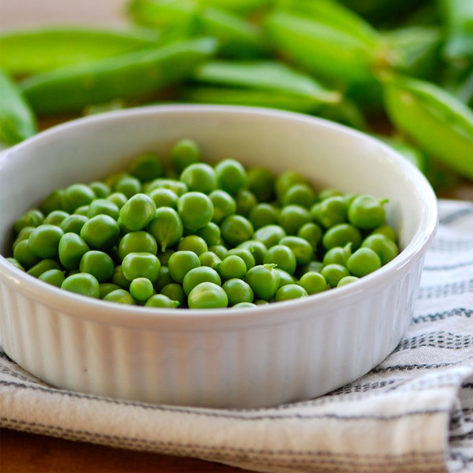 **Peas**   *Contains 9g of protein per 100g.*