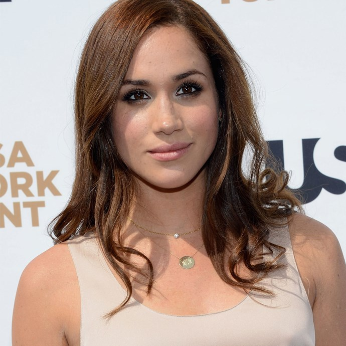 Meghan attending USA Network Upfront in 2012.