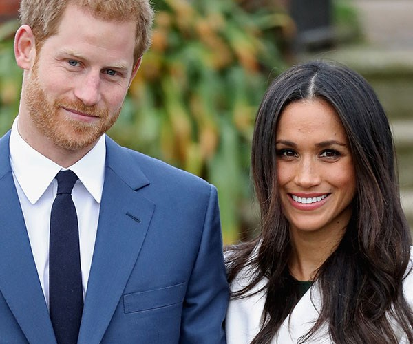 With Prince Harry at the official photocall to announce their engagement in November, 2017.
