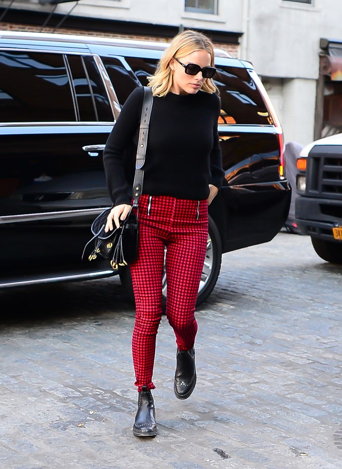 In I.Am.Gia trousers in New York city.