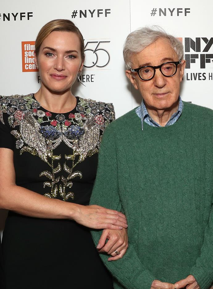 """**Kate Winslet** <br><br> Winslet and Allen worked together in the upcoming *Wonder Wheel*. She was asked by [*The New York Times*](https://www.nytimes.com/2017/09/06/movies/kate-winslet-relives-two-haunting-film-experiences.html?mcubz=0