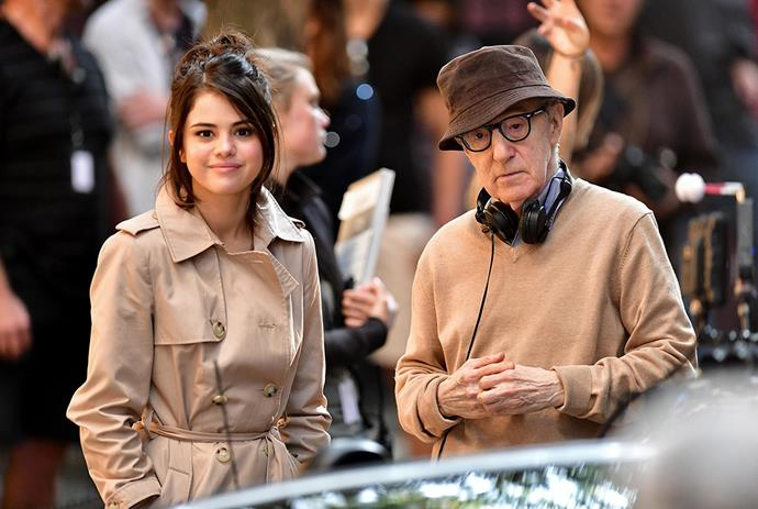 """**Selena Gomez** <br><br> Gomez will star in Allen's upcoming project *A Rainy Day in New York*. When asked by [*Billboard*](https://www.billboard.com/articles/events/women-in-music/8053741/selena-gomez-cover-story-billboard-women-in-music-2017