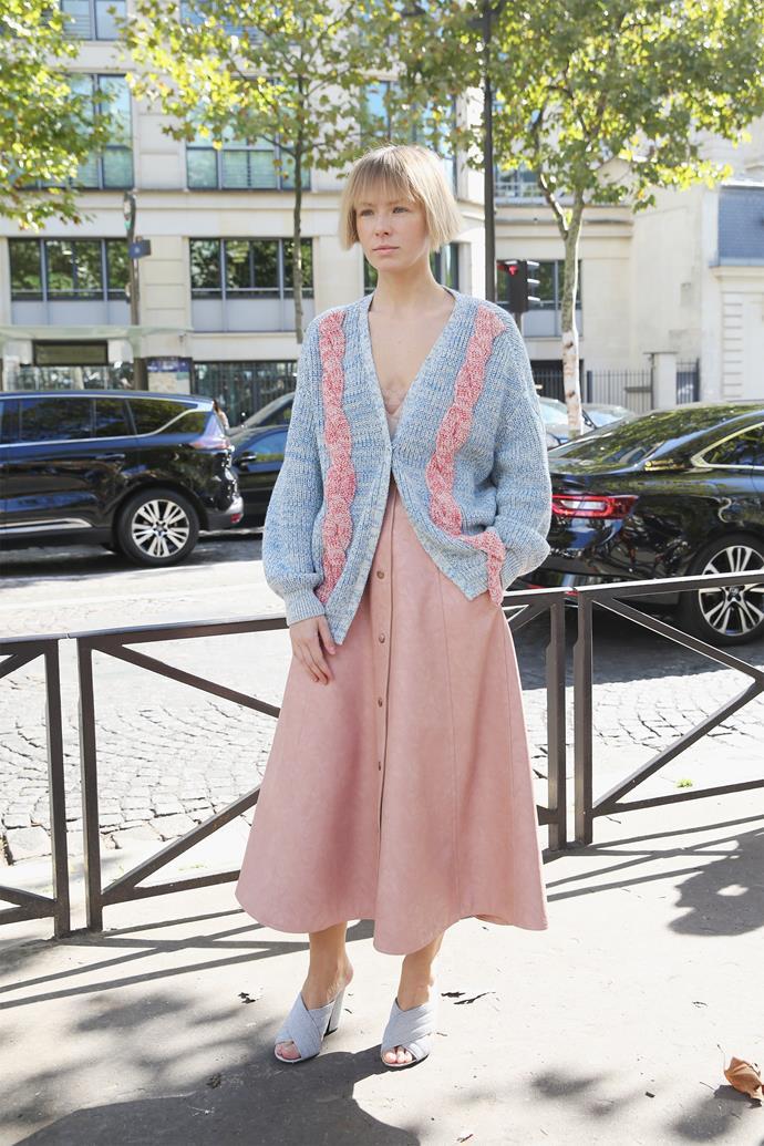 Vika Gazinskaya at Paris fashion week spring summer '18.