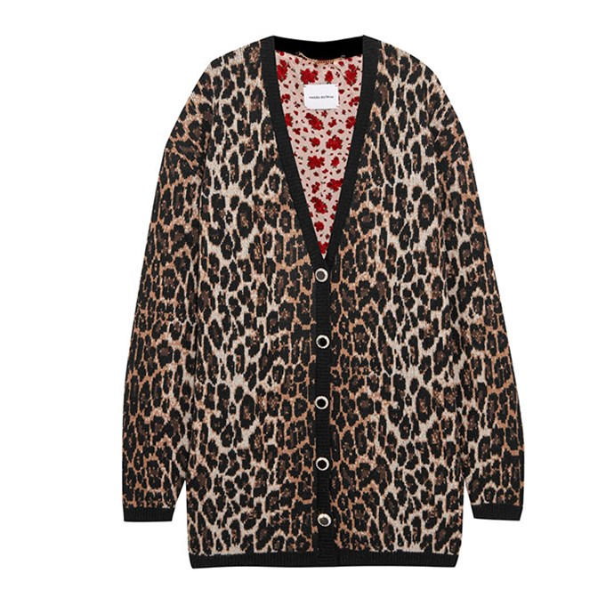 "Cardigan by Magda Butrym, $1,564 at [Net-a-Porter](https://www.net-a-porter.com/au/en/product/943290/Magda_Butrym/rochester-leopard-intarsia-wool-and-cashmere-blend-cardigan|target=""_blank""