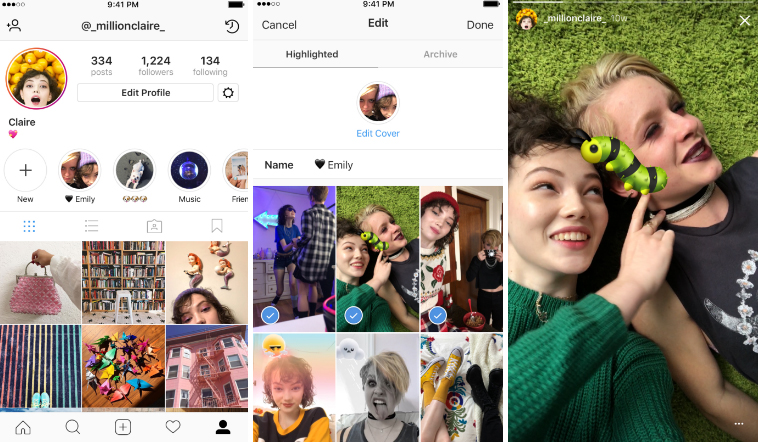 Introducing Stories Highlights and Stories Archive – Instagram