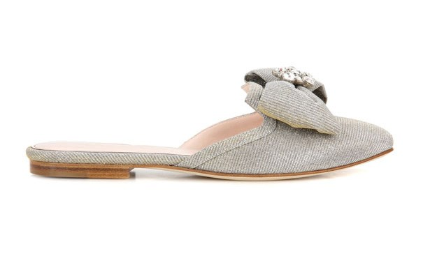 "Flats, $1,065, Oscar De La Renta at [MyTheresa](http://www.mytheresa.com/en-au/oscar-de-la-renta-embellished-slip-on-sandals-758846.html?catref=category|target=""_blank"")"